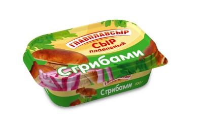 Сыр плавленый «Сливочный» с грибами ТМ «Главплавсыр»
