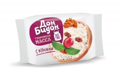 Творожный продукт с заменителем молочного жира с изюмом «Дон Бидон»