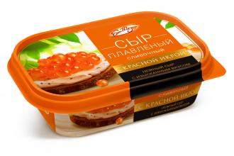 Сыр плавленый «Сливочный» с красной икрой ТМ «Бон Плезир»