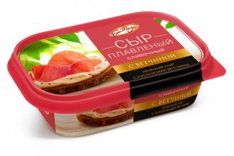 Сыр плавленый «Сливочный» с ветчиной ТМ «Бон Плезир»