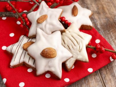 Имбирное печенье с миндалём